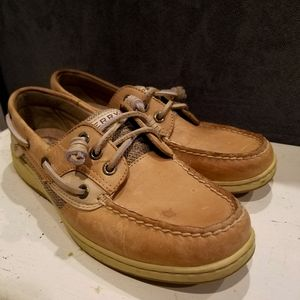 Womens Leather Boat Shoe
